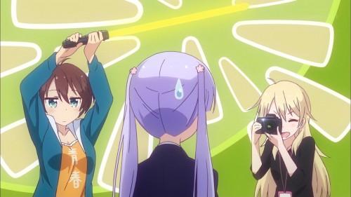 篠田はじめのライトセーバーを証明に涼風青葉を撮る八神コウ