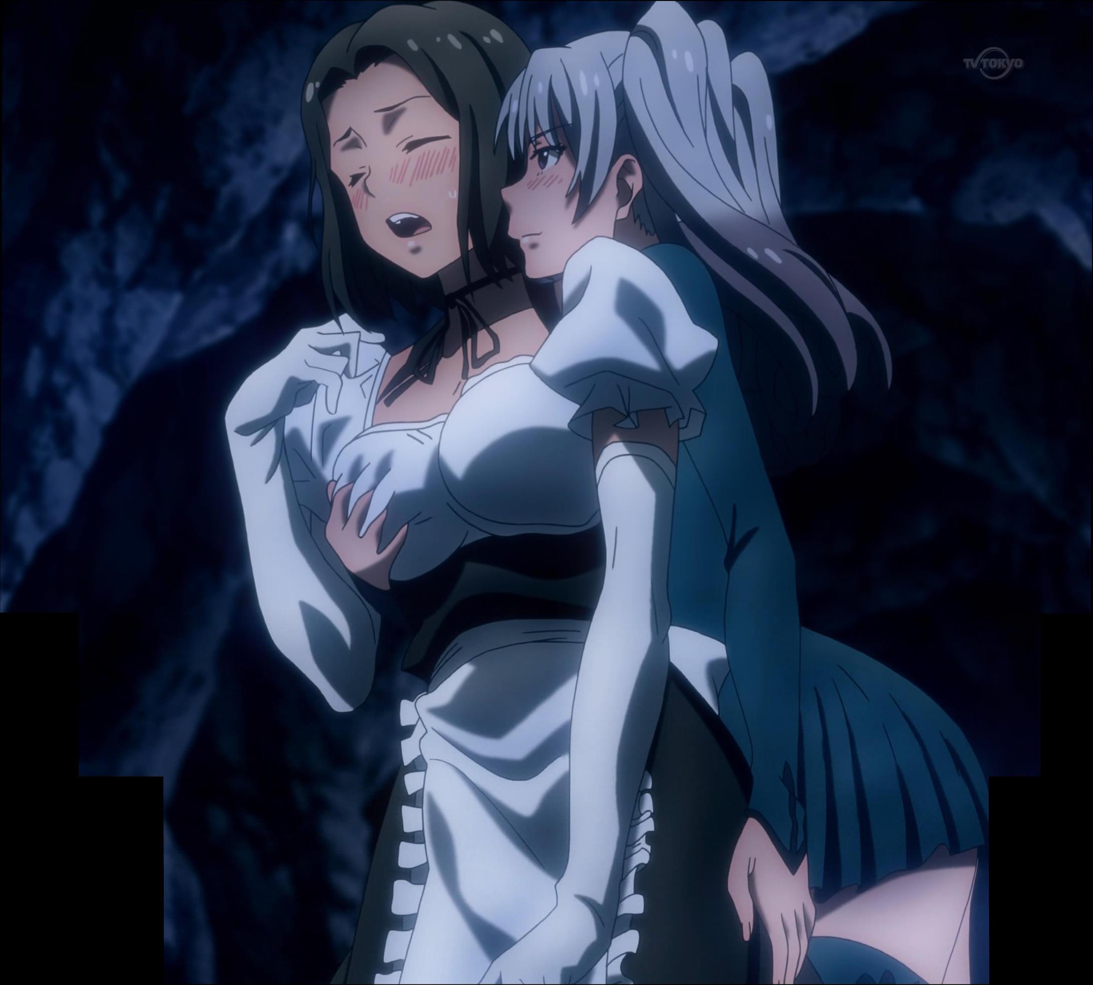 メイドの胸と尻を触るアリヤ