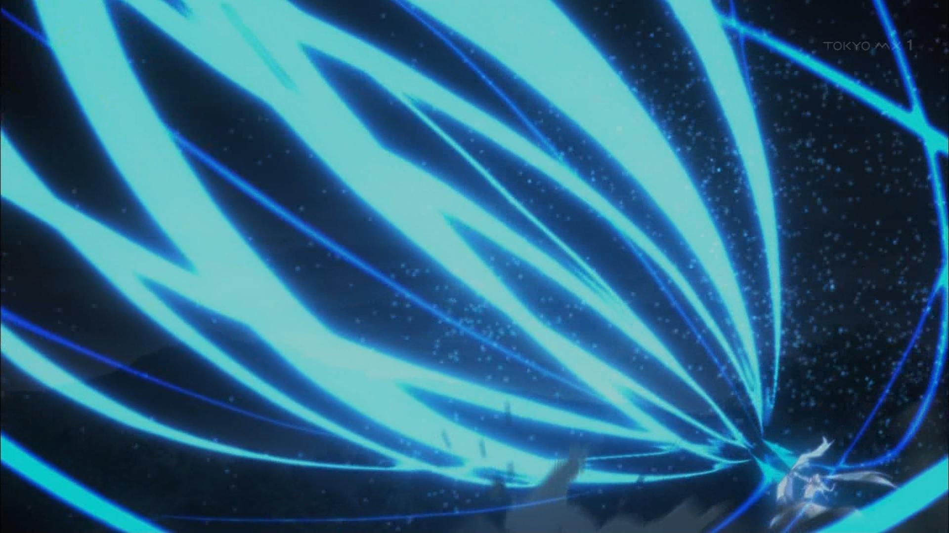 蒼穹の十二連を撃つスレイとミクリオ