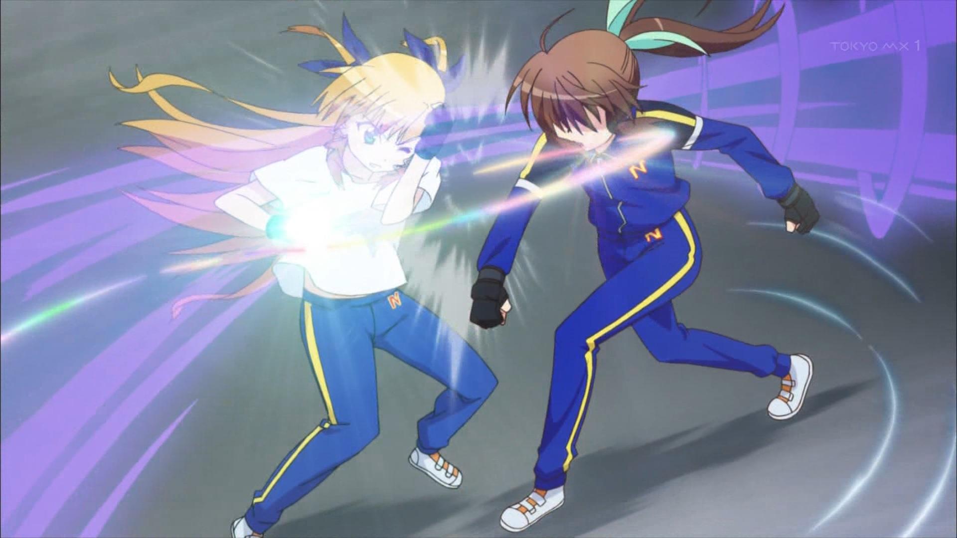 ヴィヴィオに覇王断空拳を撃つフーカ