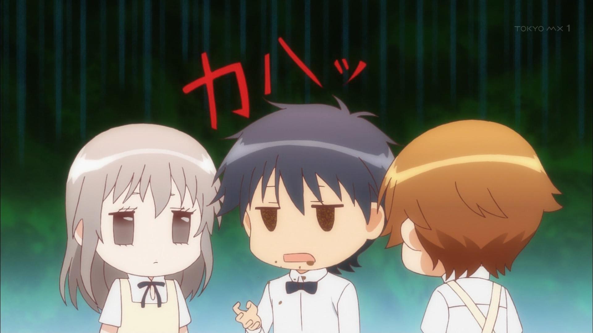 宮越さんのチョコを吐く東田(第1話)