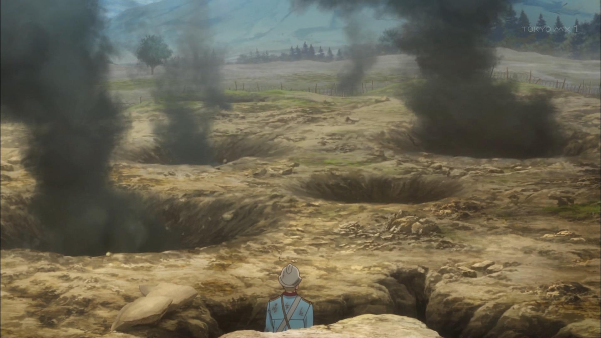 爆撃されるエイルシュタット(第3話)