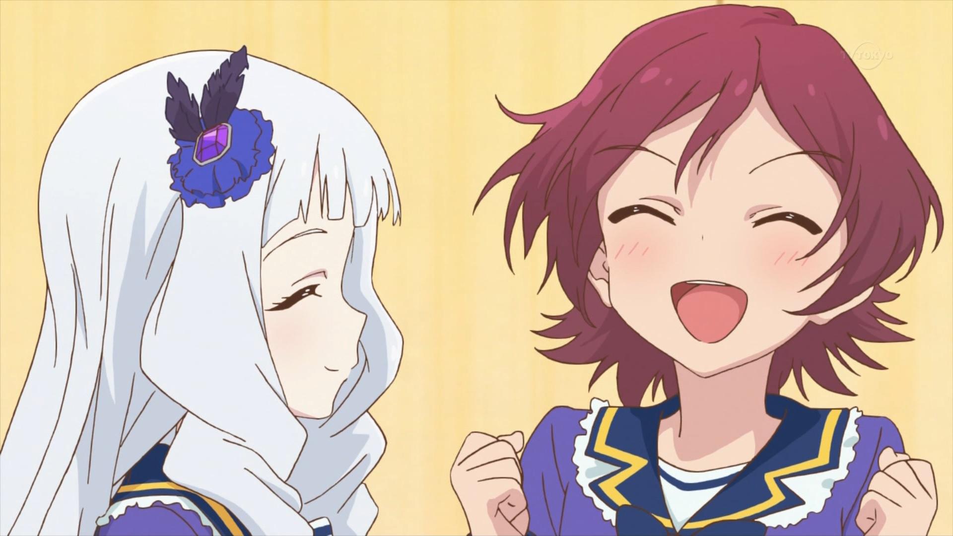 芦田有莉と白銀リリィ(第32話画像)