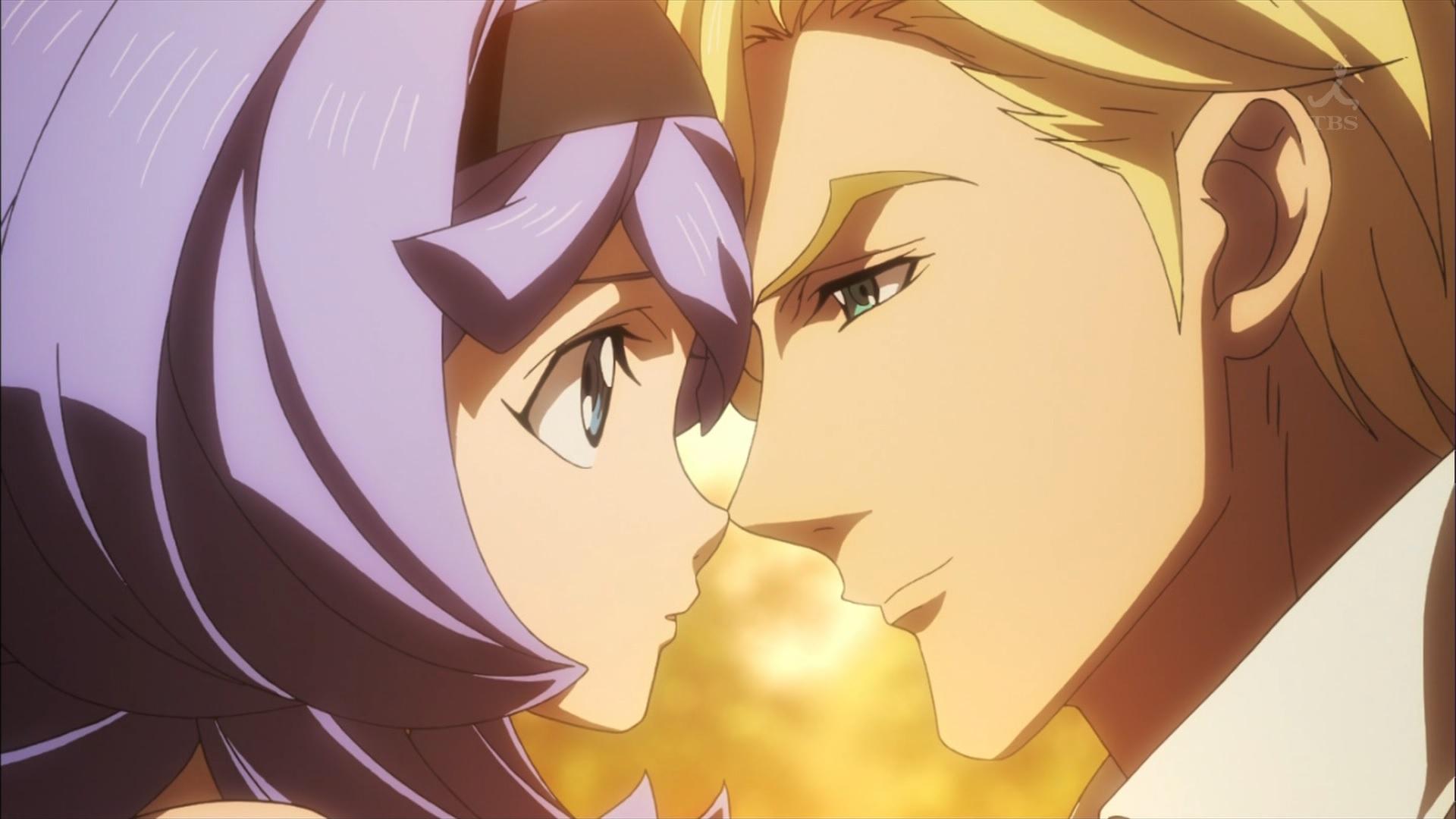 マクギリスとアルミリア(第34話画像)