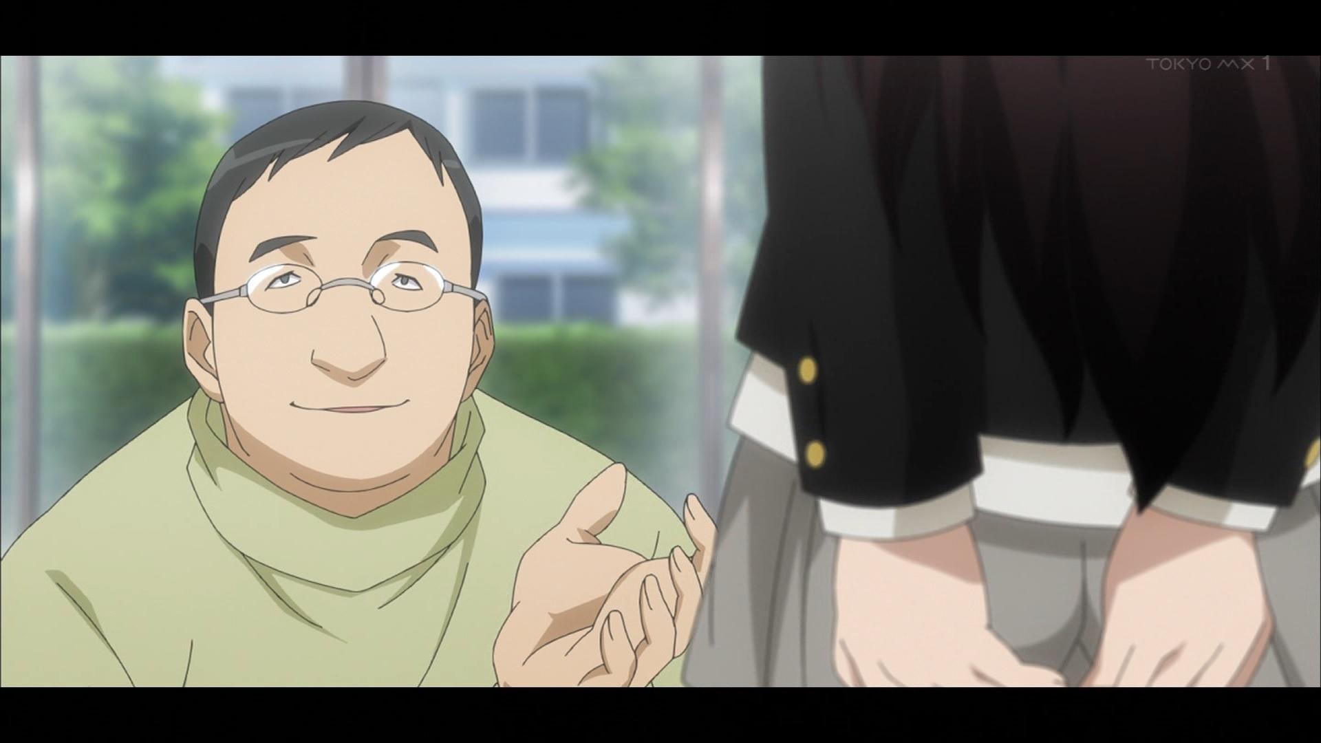 スカートをめくられる細波華乃(第7話画像)