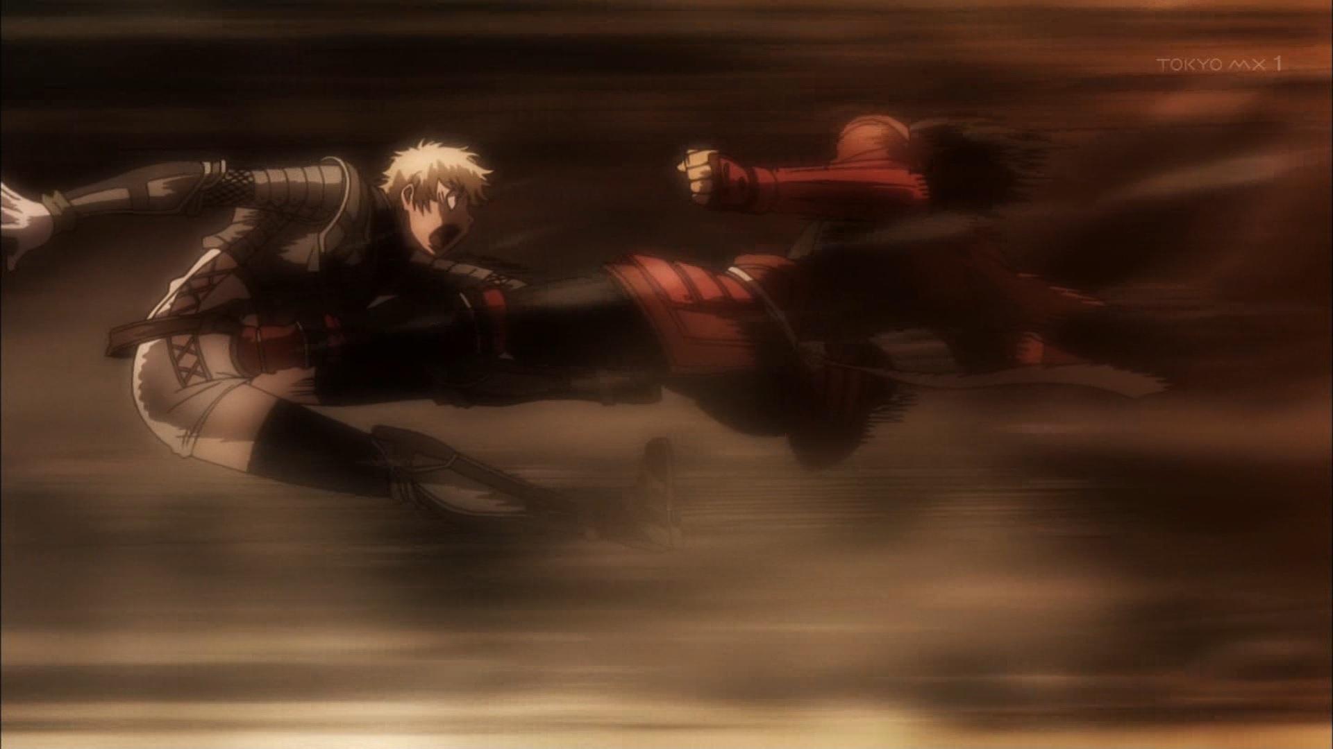 豊久に蹴られるジャンヌダルク(第7話画像)