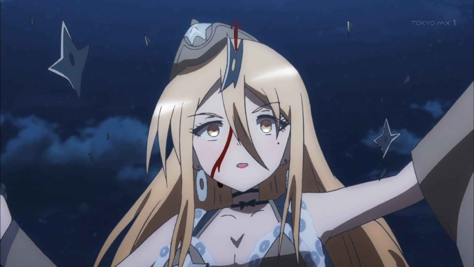 手裏剣が刺さるカラミティメアリ(第9話画像)