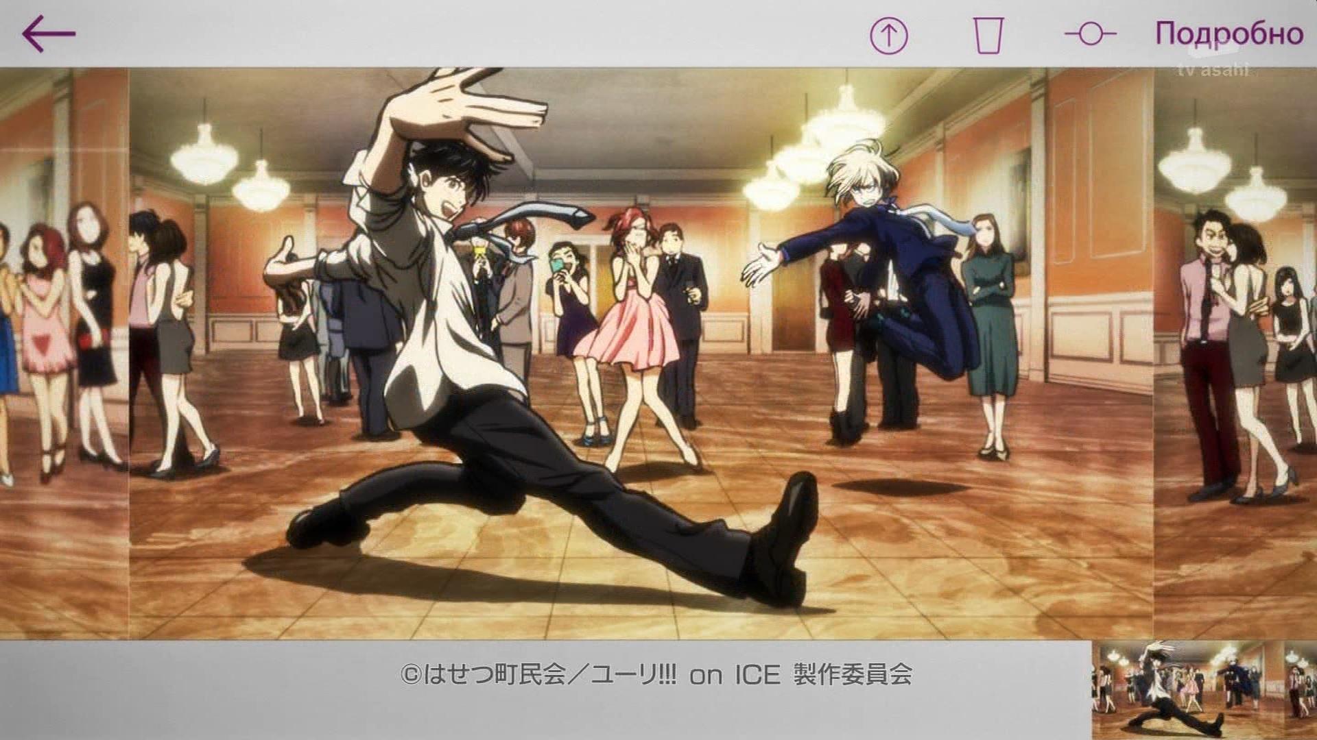 勇利とユリオのダンスバトル(第10話画像)