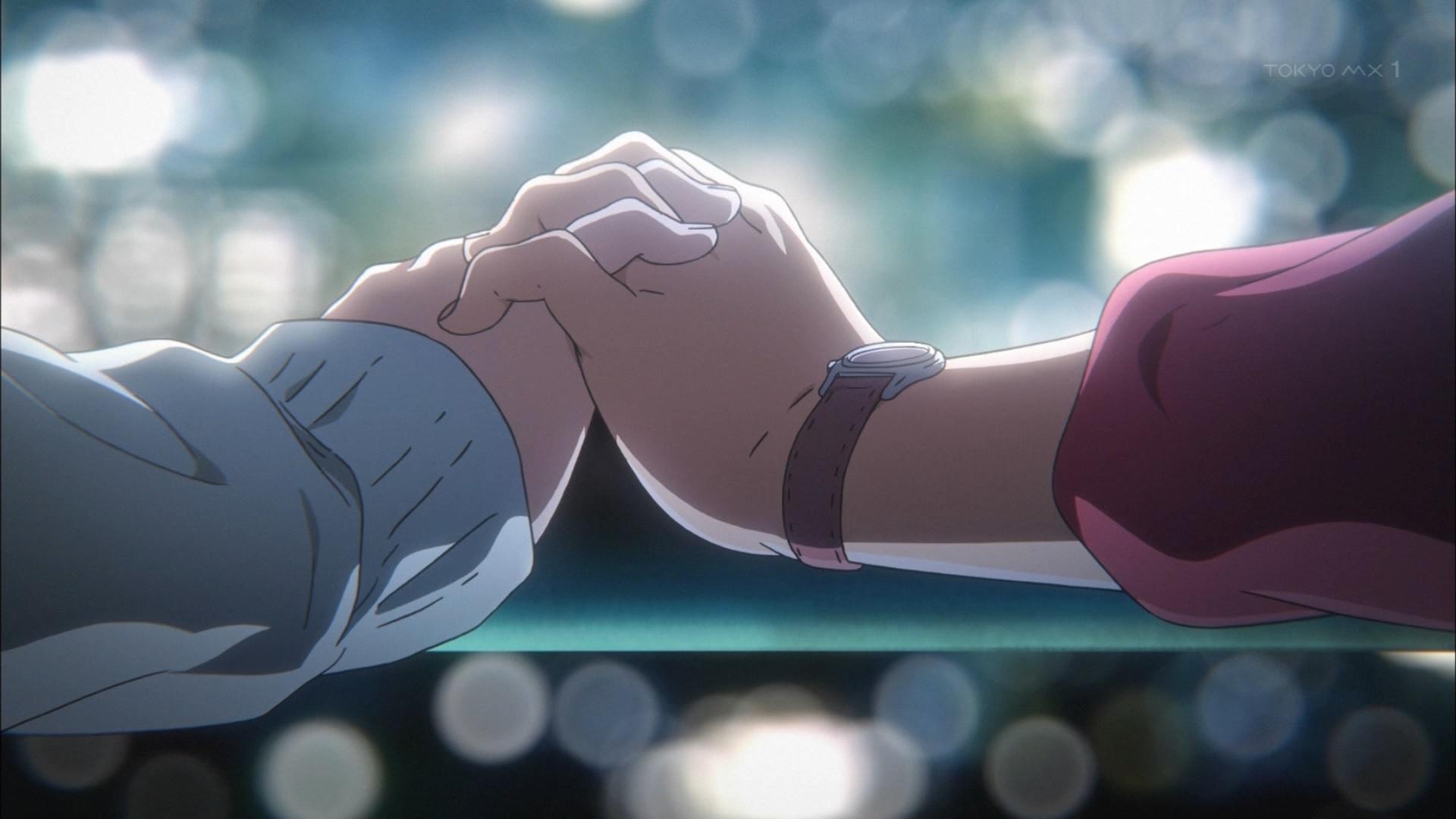 久美子と麗奈の恋人繋ぎ(第11話画像)