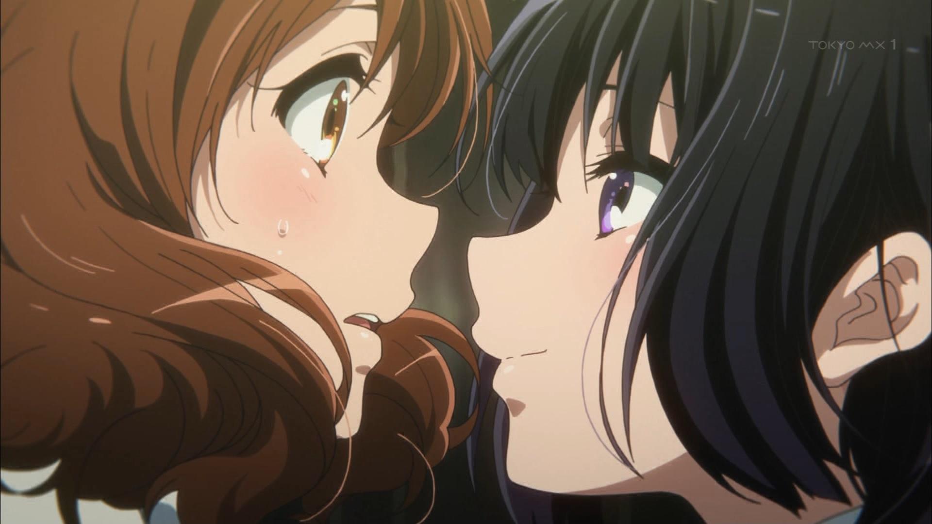 黄前久美子と高坂麗奈(第9話画像)