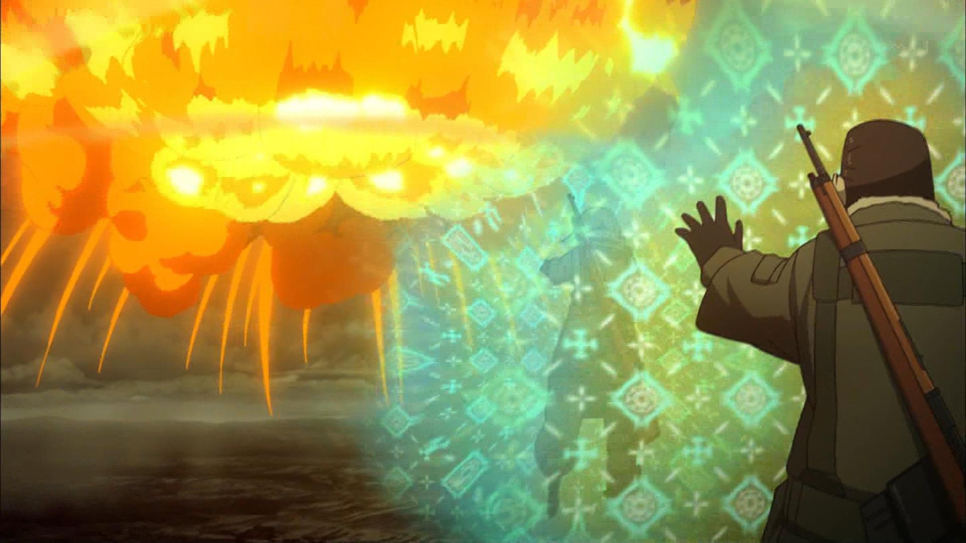 ターニャの爆撃(第1話画像)