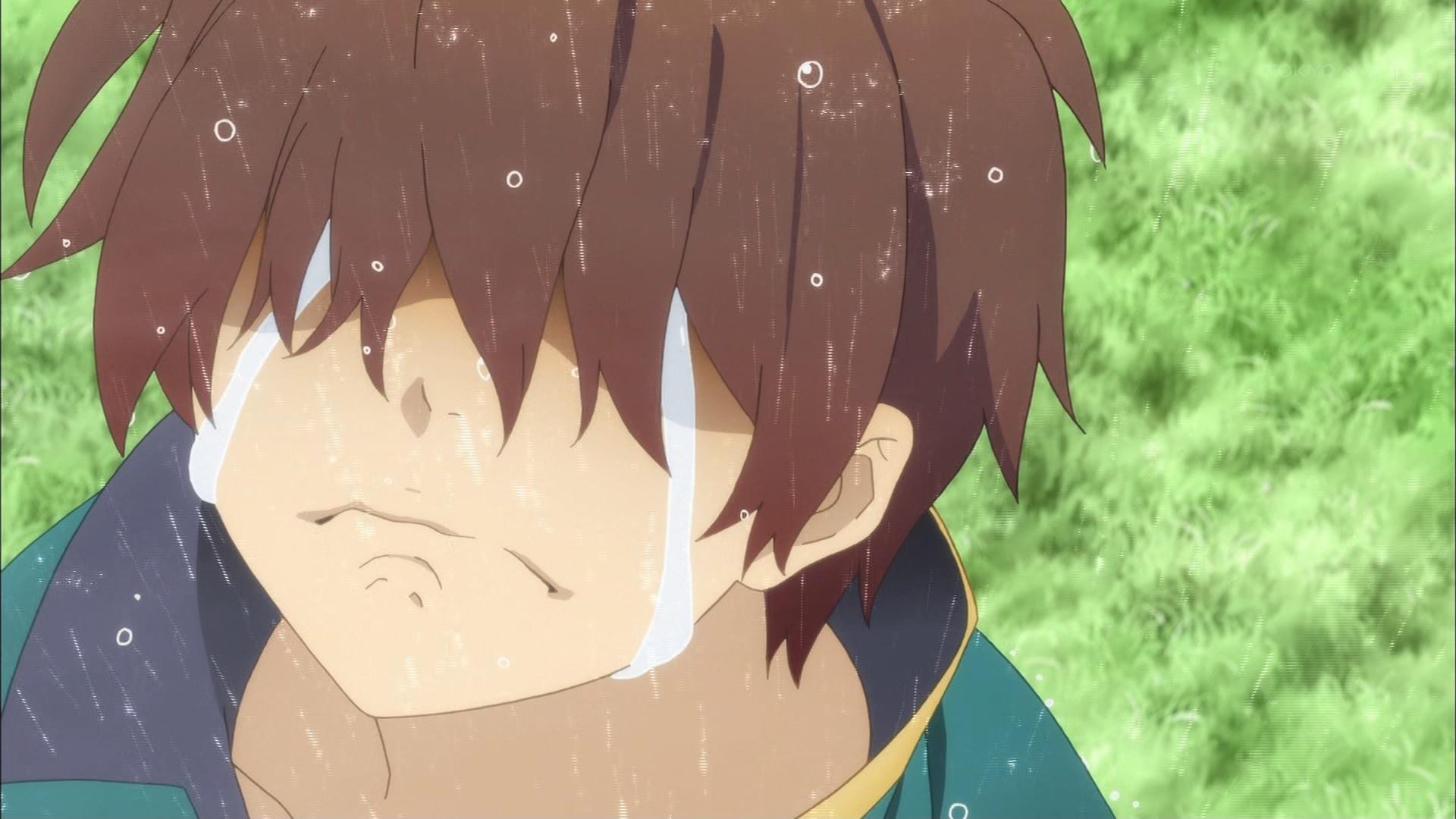 泣くカズマ(第3話画像)