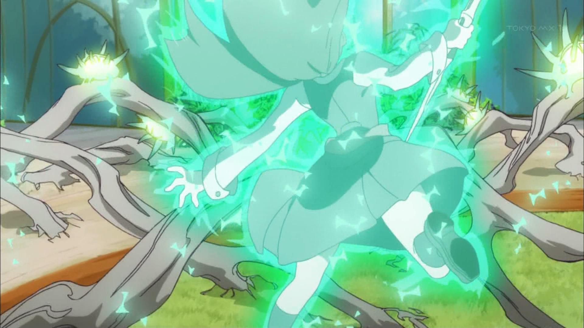 ダイアナの魔法を受けるアッコ(第2話画像)