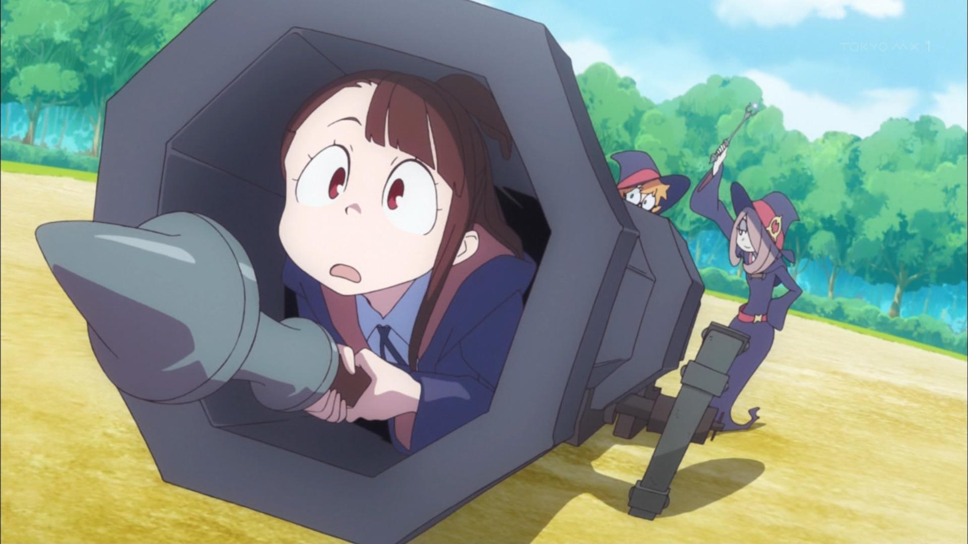 大砲で飛ぶアッコ(第3話画像)