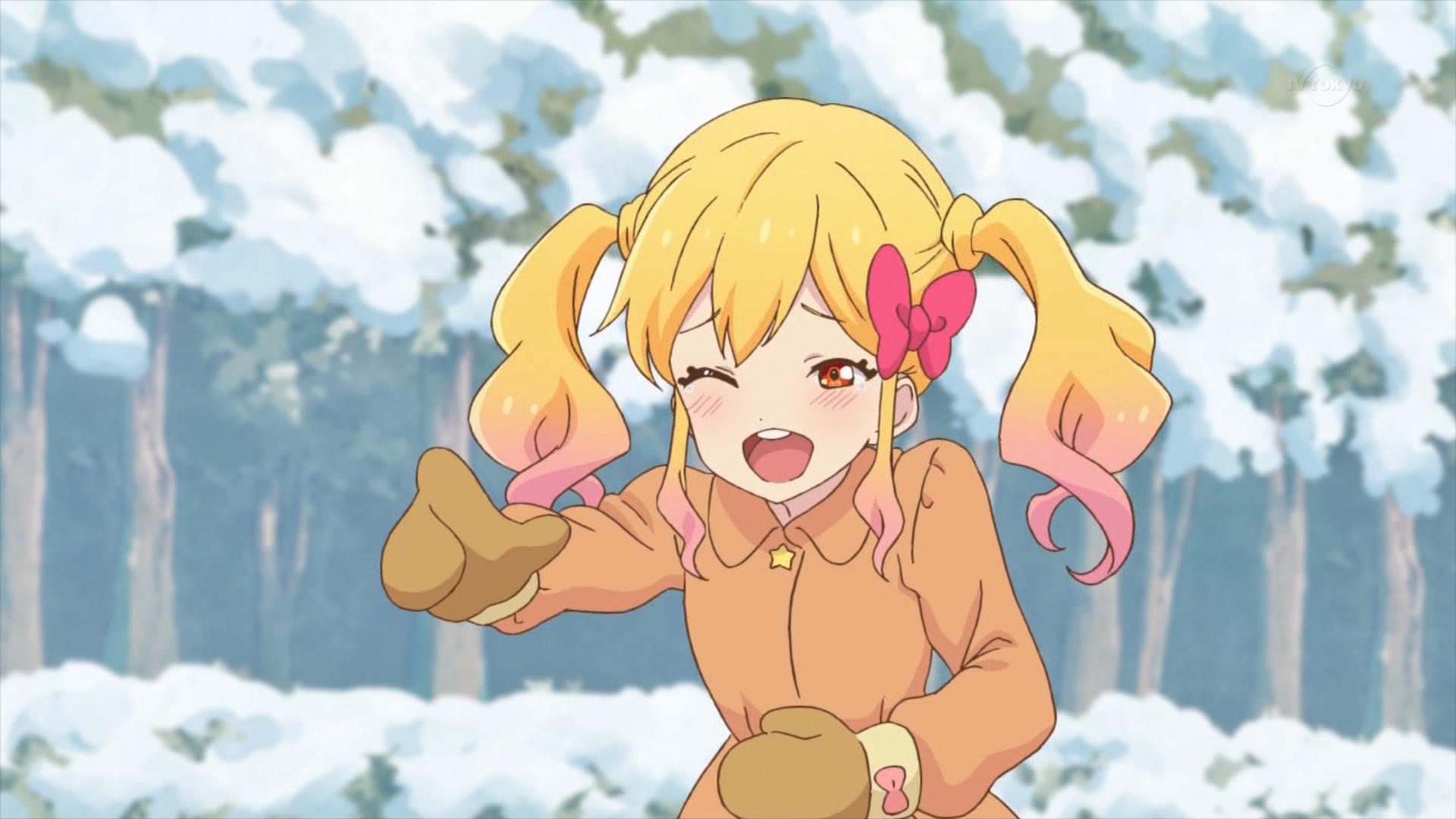 雪合戦する虹野ゆめ(44話画像)