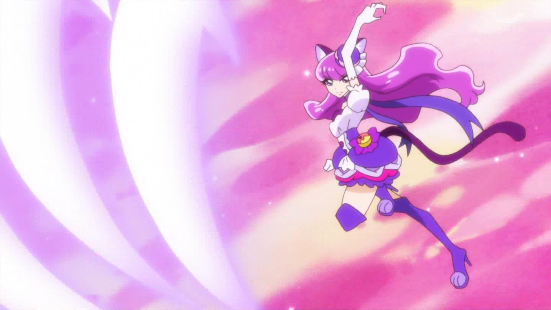 キュアマカロンの戦闘シーン(キラキラプリキュアアラモード5話)