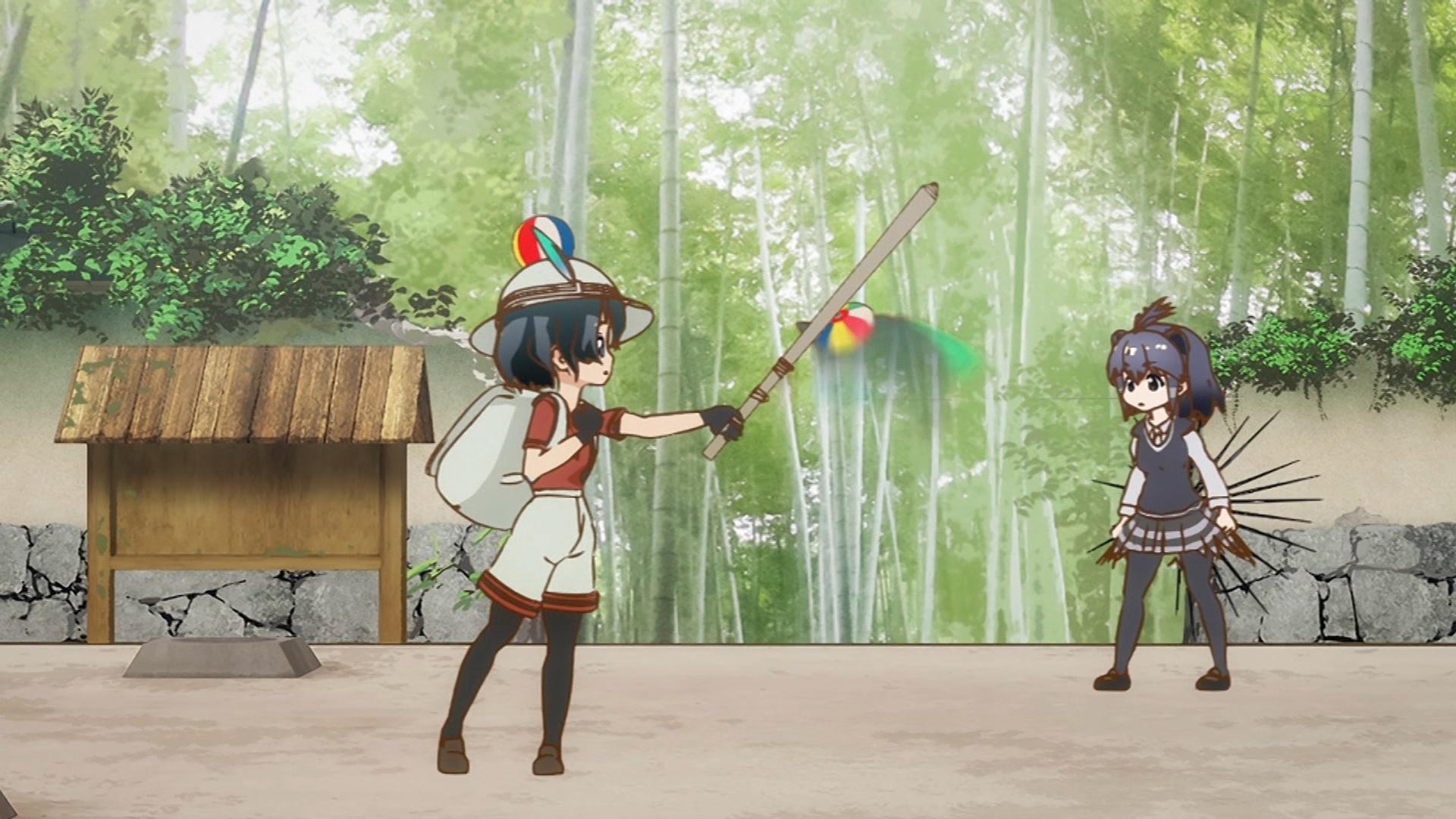 かばんちゃんとパンサーカメレオンの戦い(第6話画像)