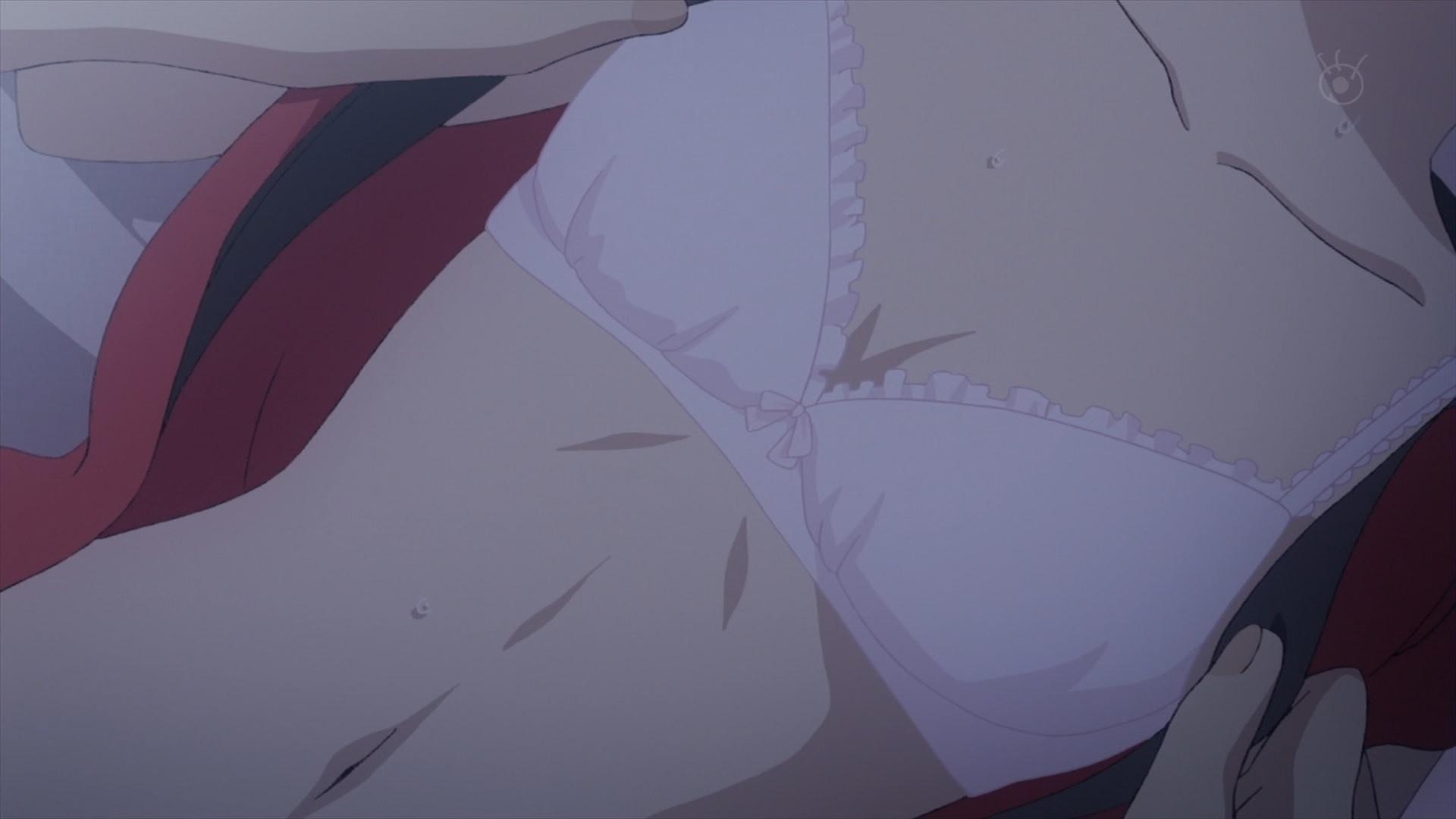 モカの胸(クズの本懐7話画像)