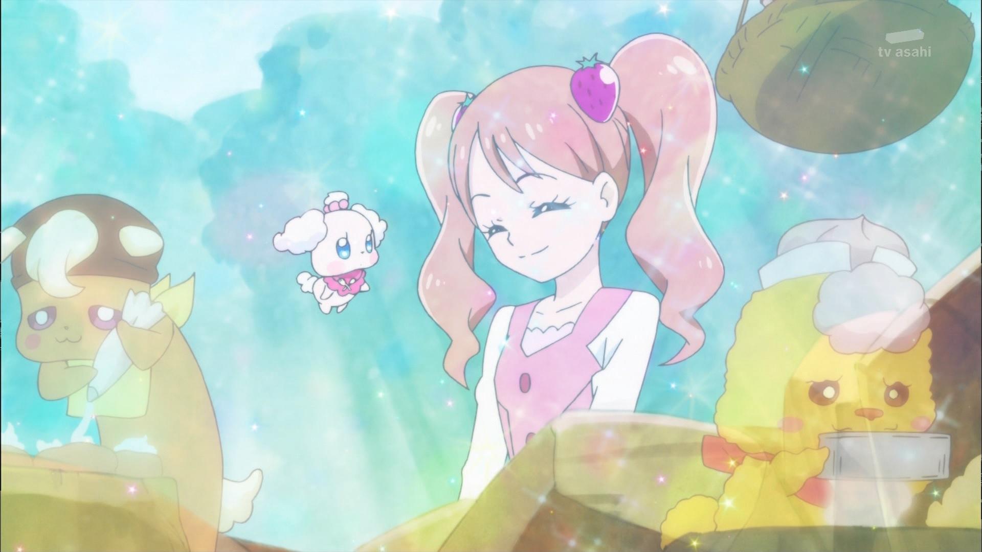 宇佐美いちかとペコリン(キラキラプリキュアアラモード7話画像)