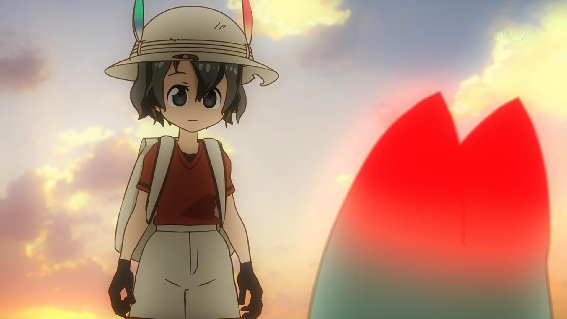 かばんちゃんとラッキービースト(けものフレンズ11話画像)
