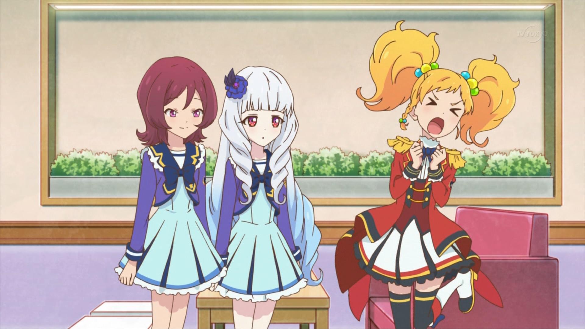 芦田有莉と白銀リリィと二階堂ゆずの三角関係(アイカツスターズ48話画像)