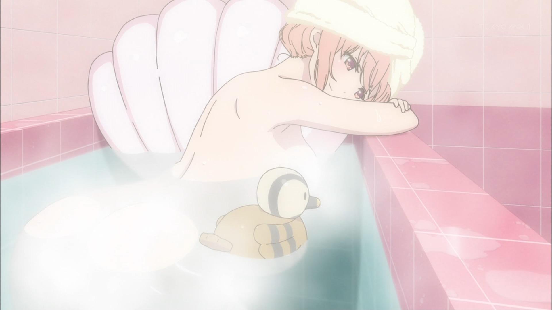 桜木ひな子の入浴シーン(ひなこのーと1話画像)