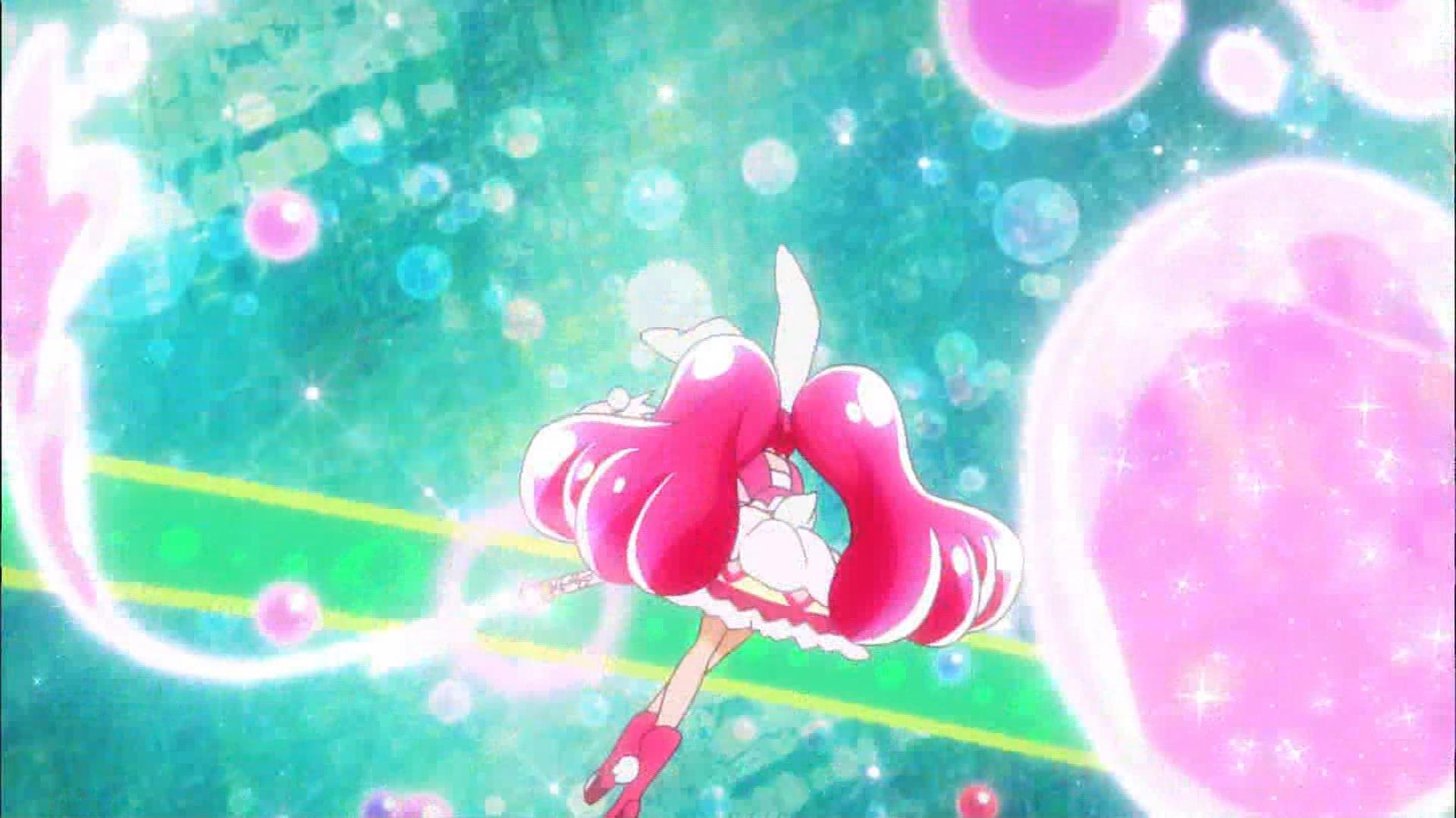 キュアホイップのキャンディロッドバンクシーン(キラキラプリキュアアラモード11話画像)