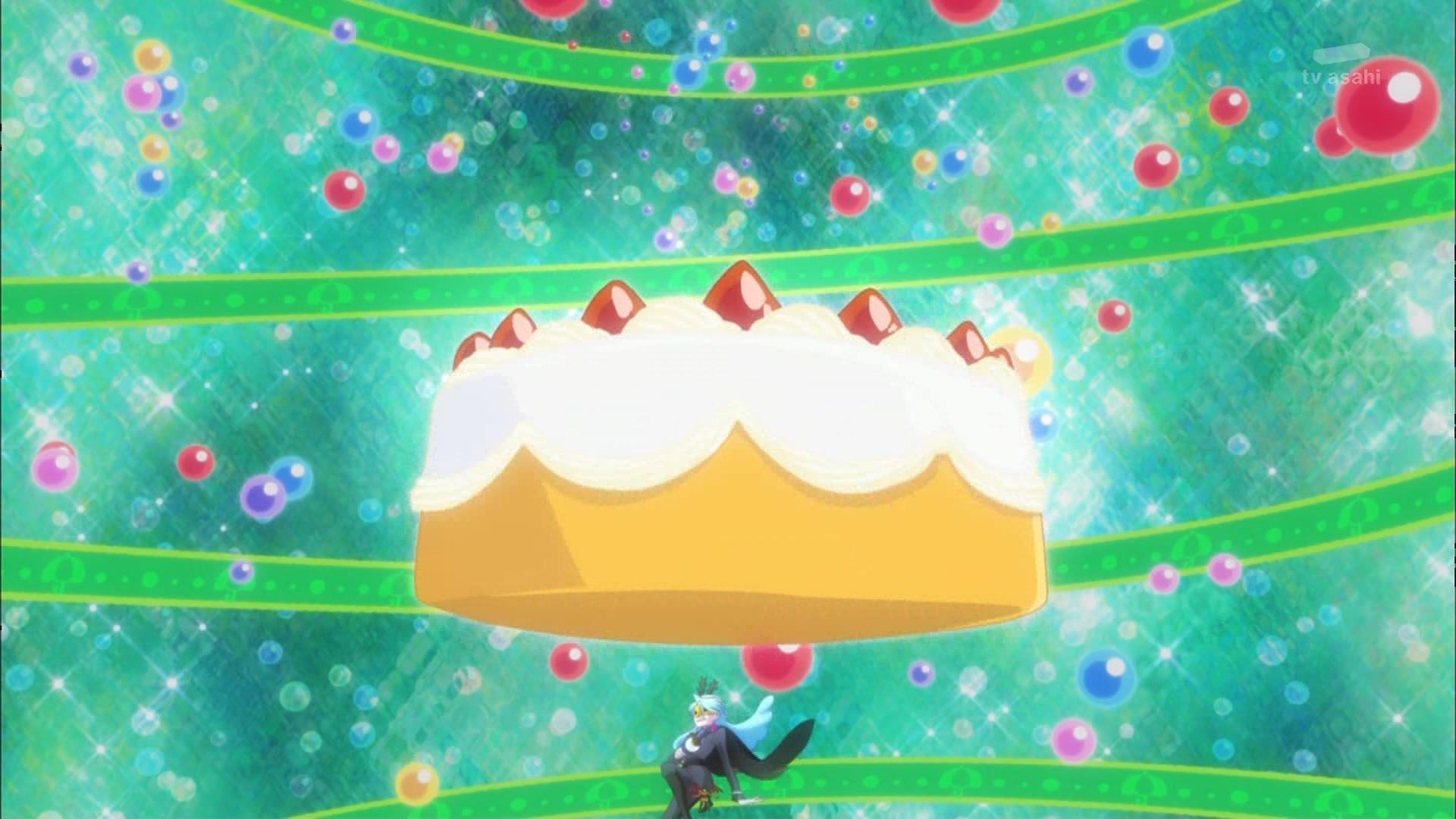 ケーキに潰されるジュリオ