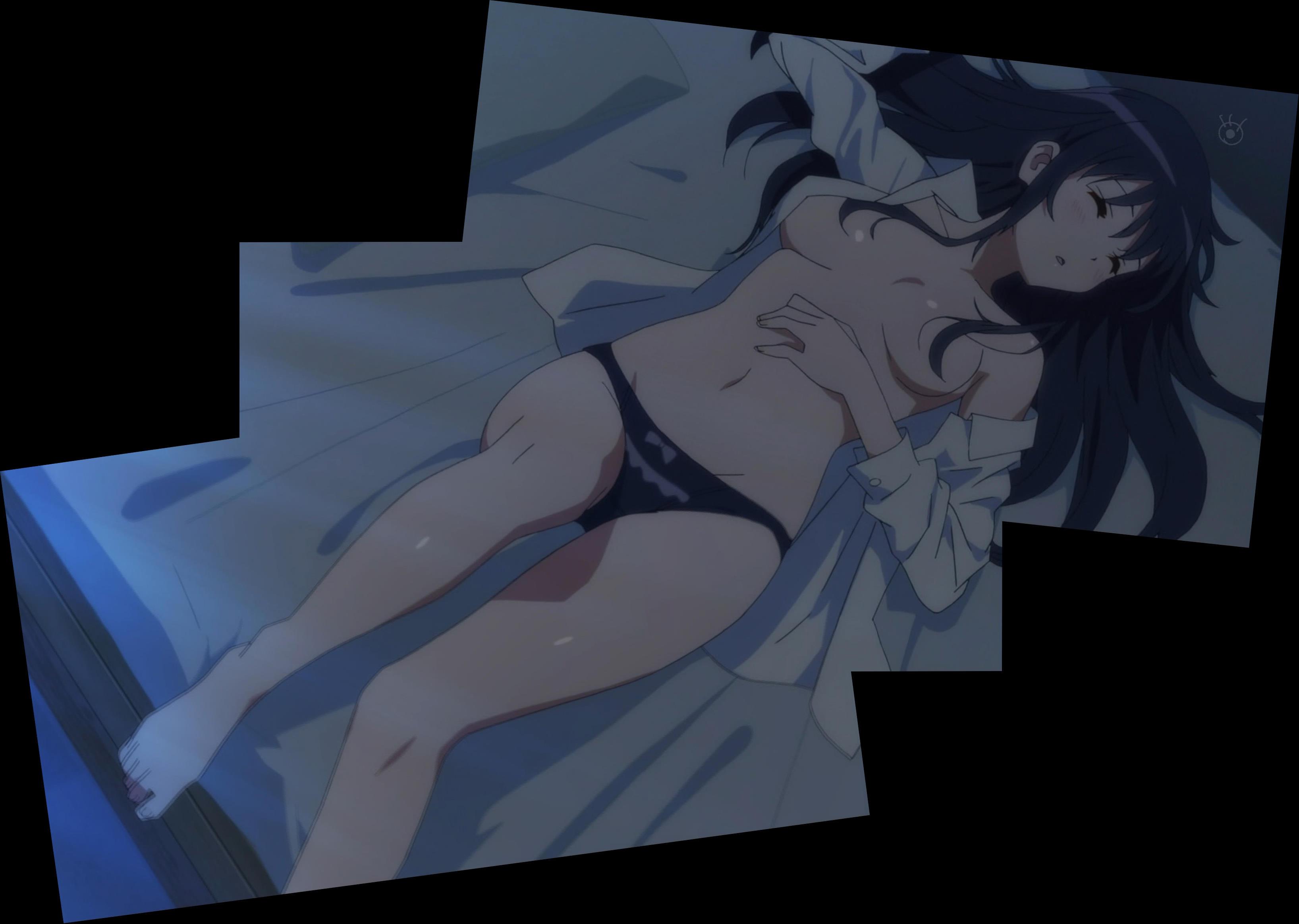 下着姿で寝る霞ヶ丘詩羽