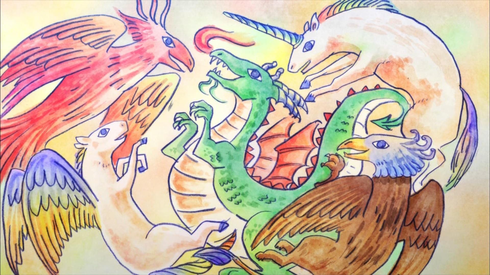 サンダルさんが描いたドラゴンの絵,サクラクエスト11話より