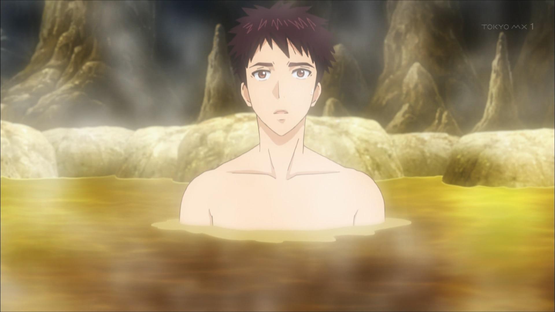 風呂に入る稲葉夕士