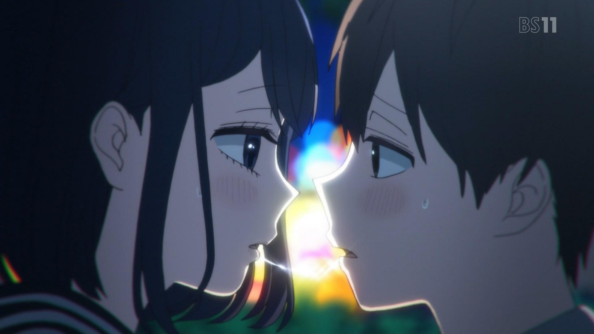 高崎美咲と根島由佳吏のキス