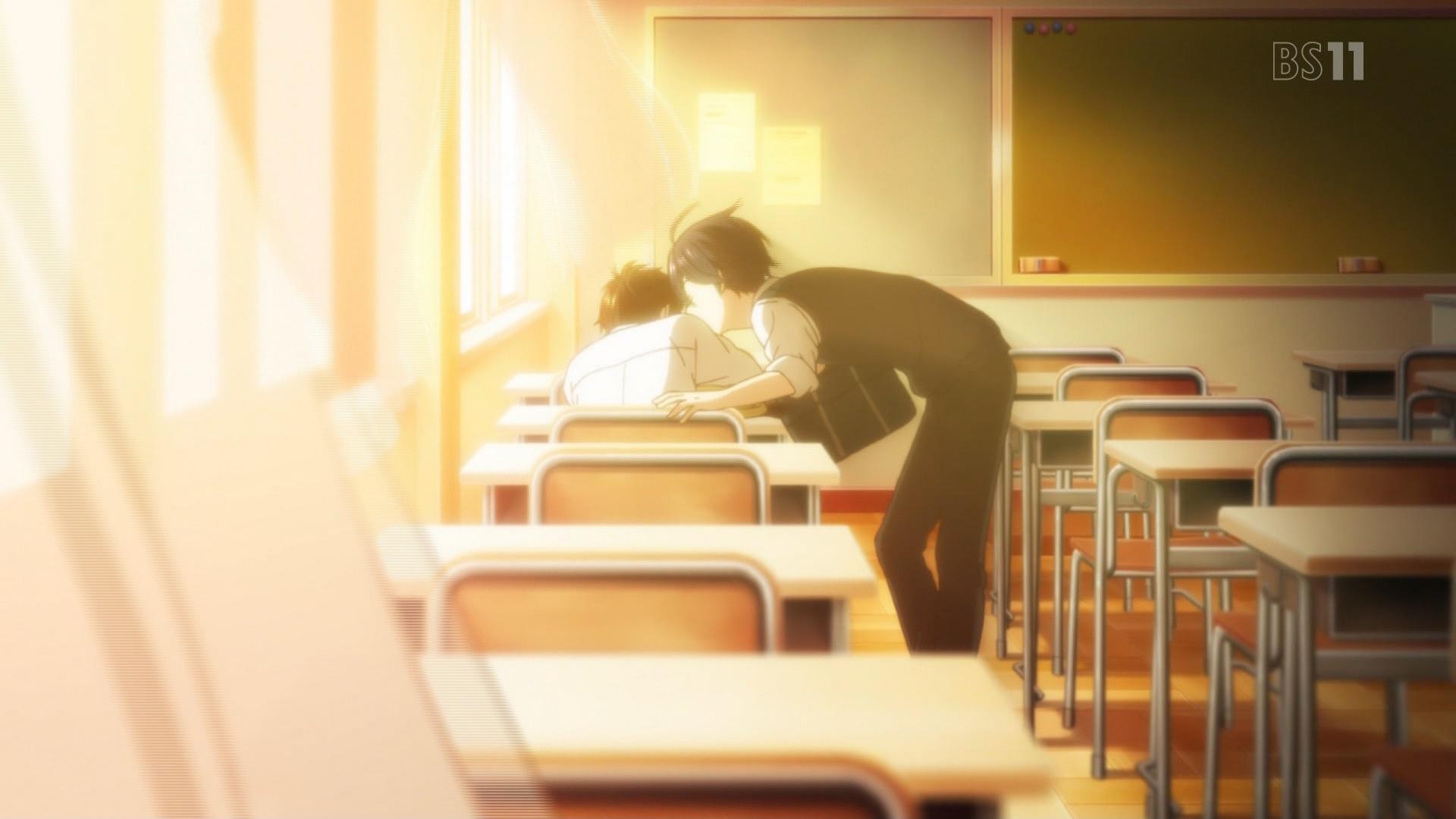 根島由佳吏にキスをする仁坂悠介