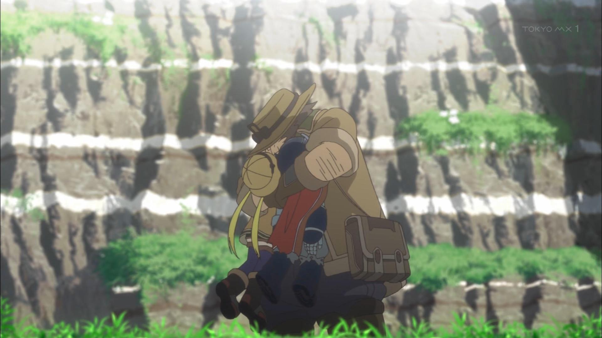リコとレグを抱くハボルグ