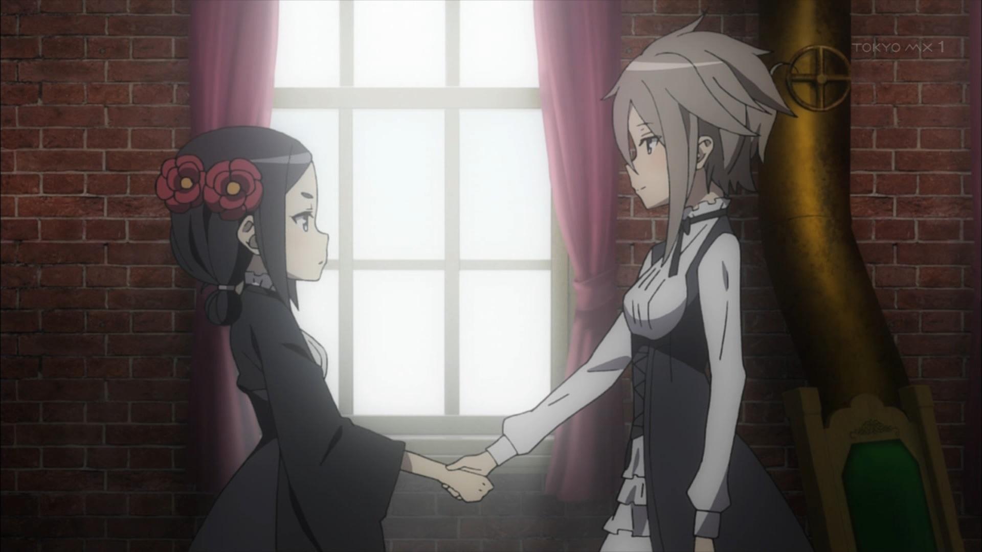 ちせとアンジェの握手