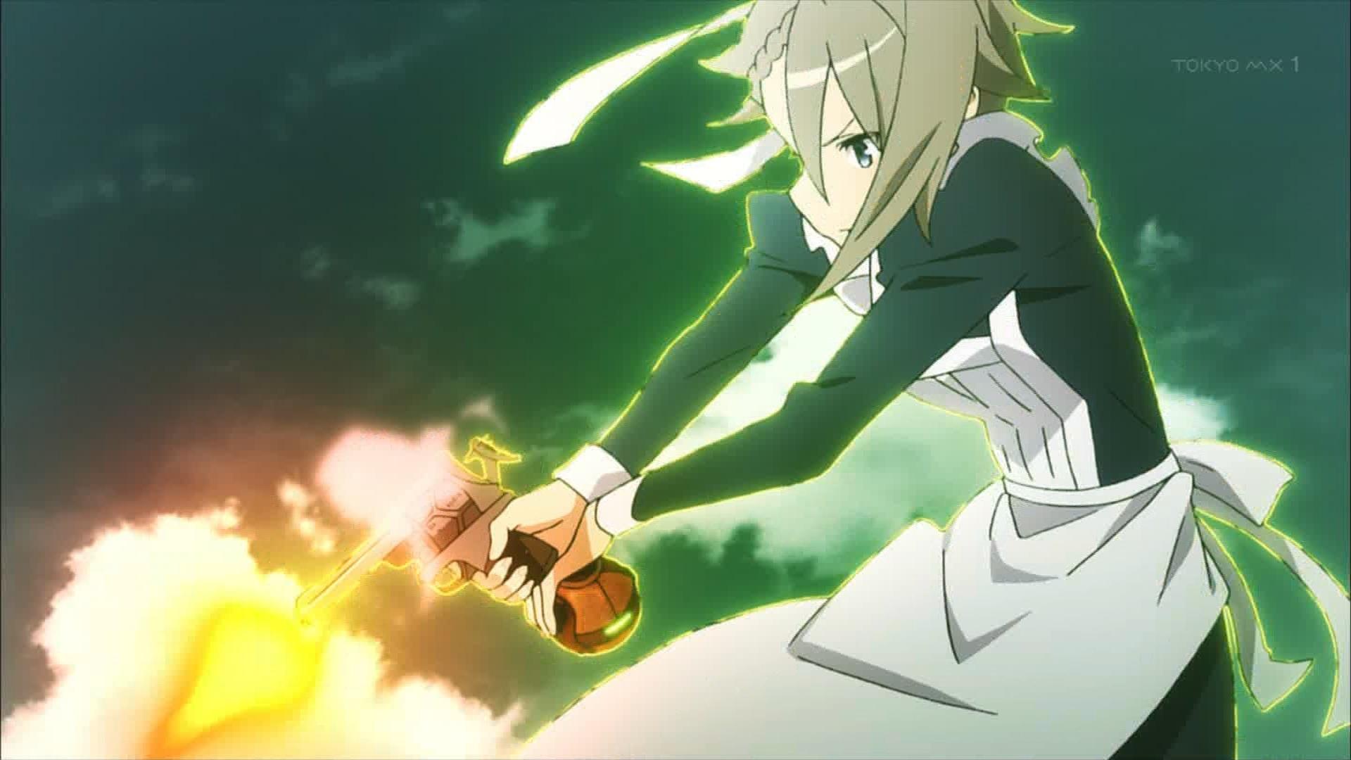 銃を撃つアンジェ