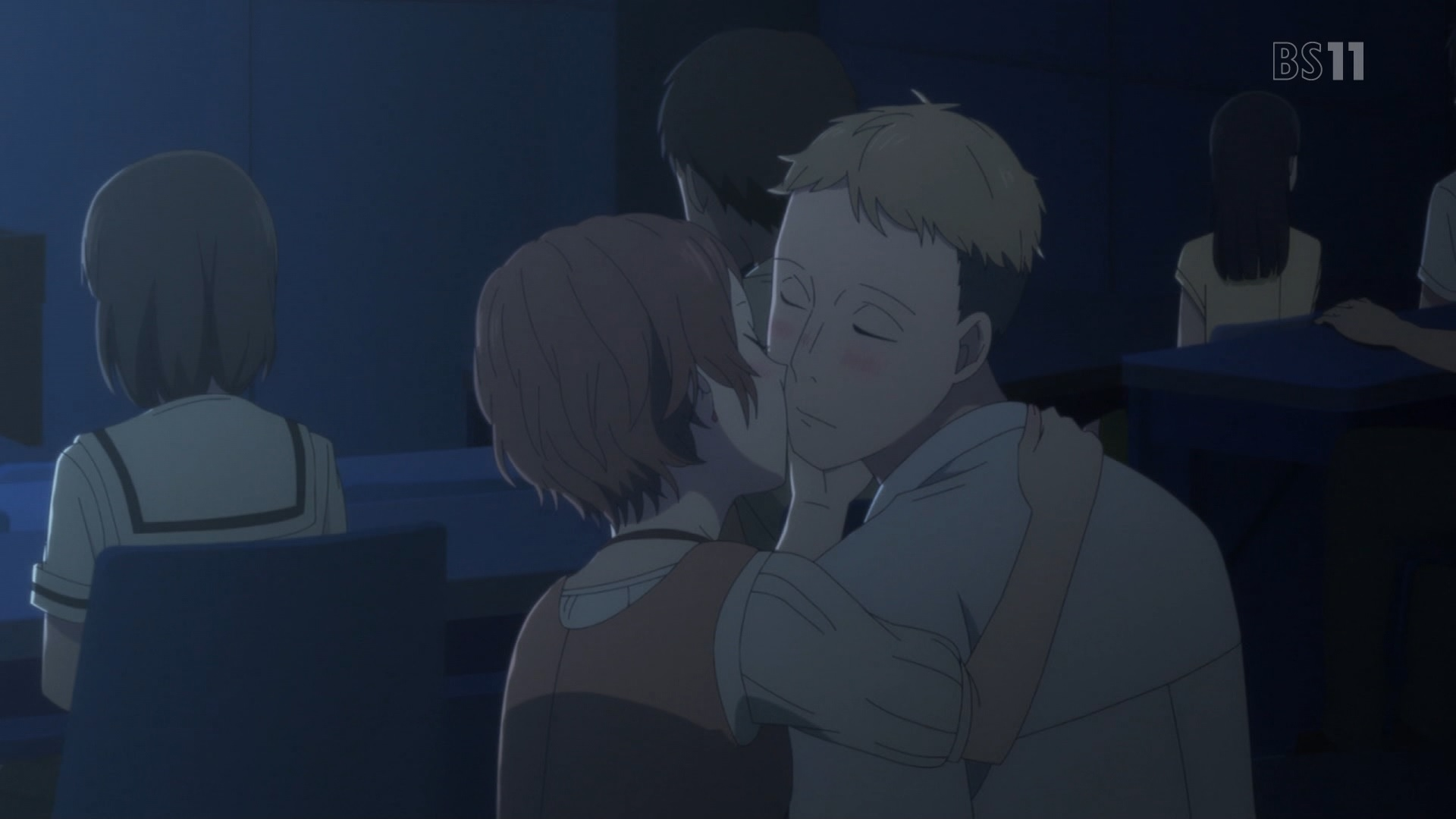 キスをする竹田大樹