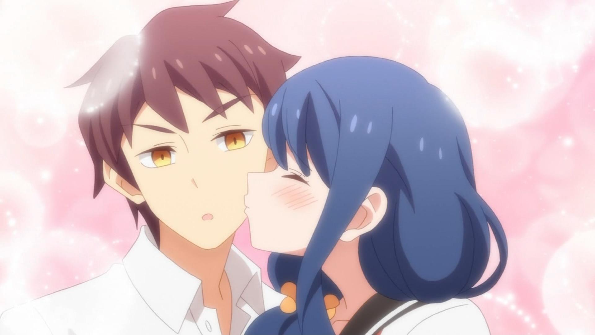 剛田武にキスをする上根綾香