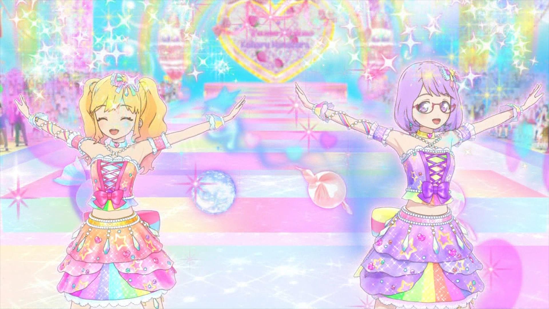 虹野ゆめと七倉小春のステージ