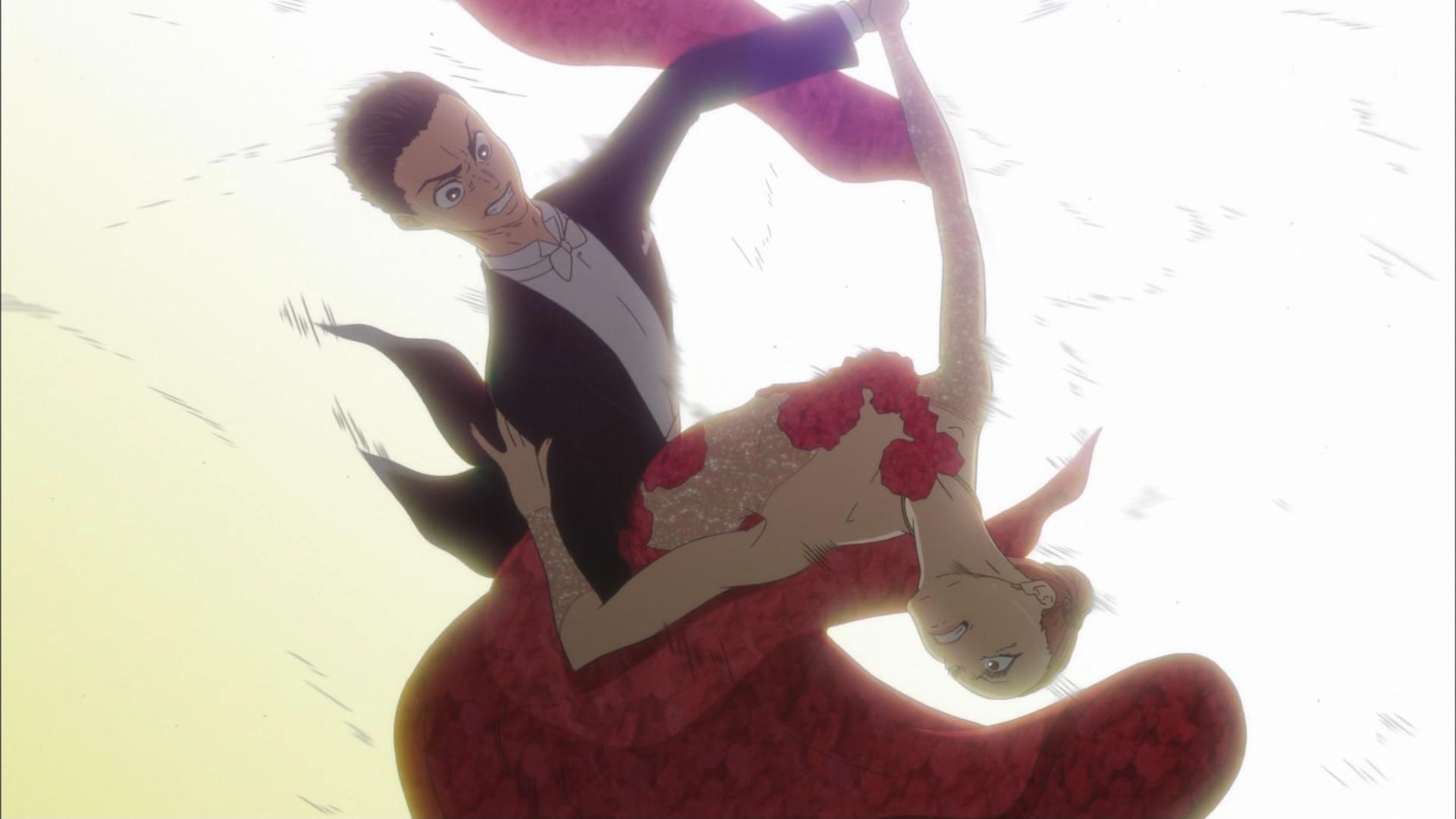 富士田多々良と緋山千夏の荒々しいダンス