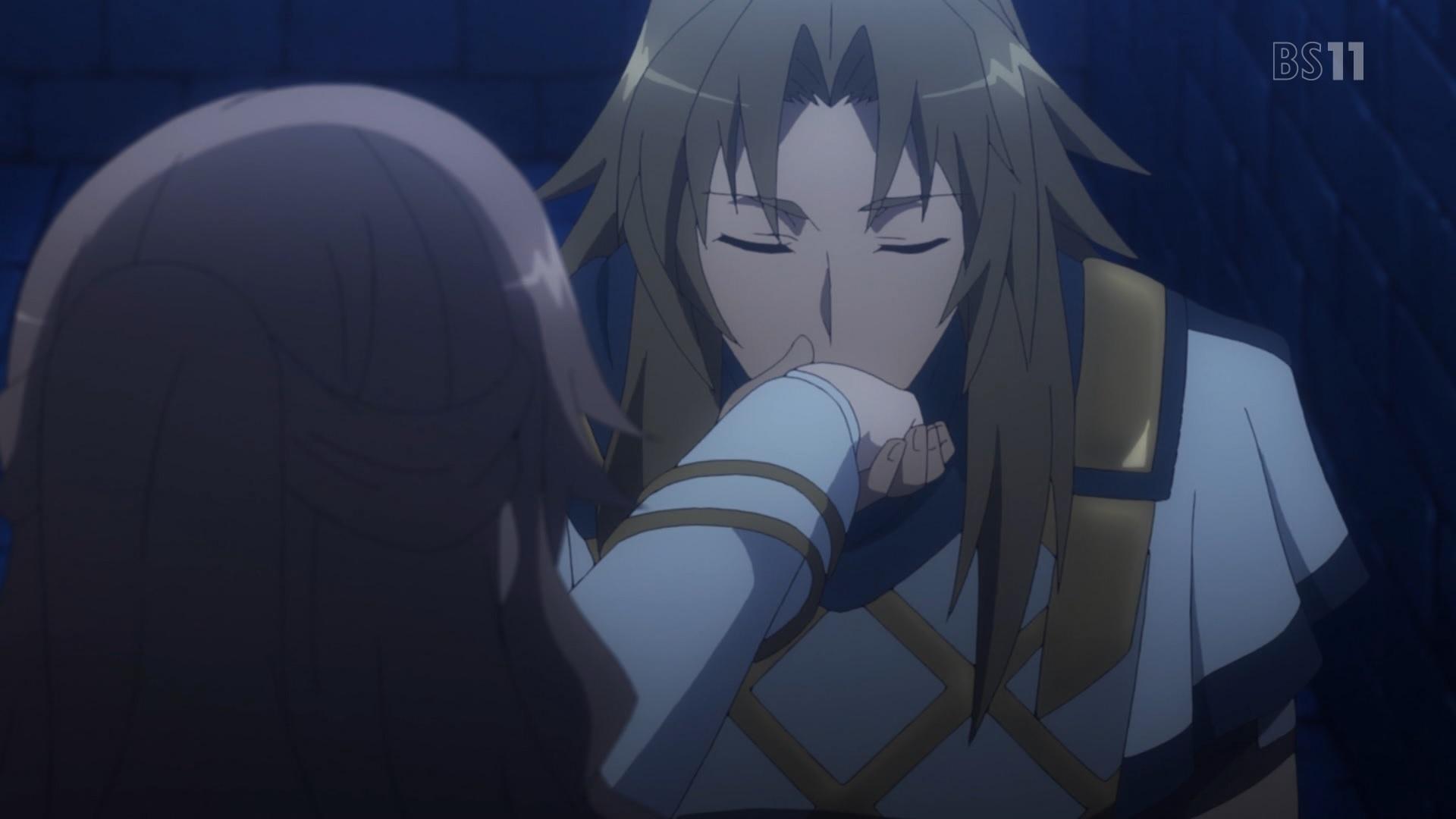 フィオレの手にキスをするケイローン