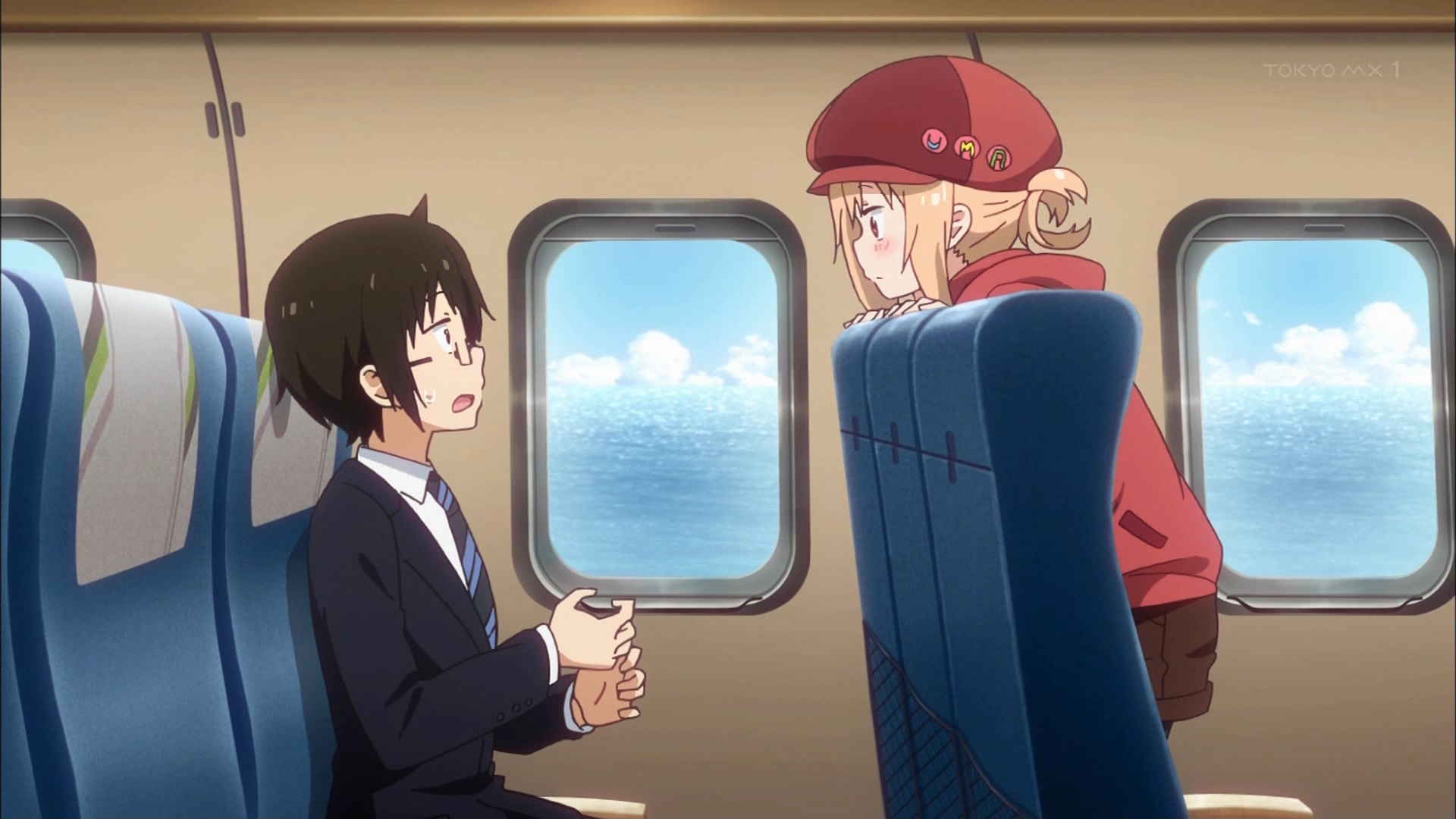 新幹線に乗るタイヘイとうまる