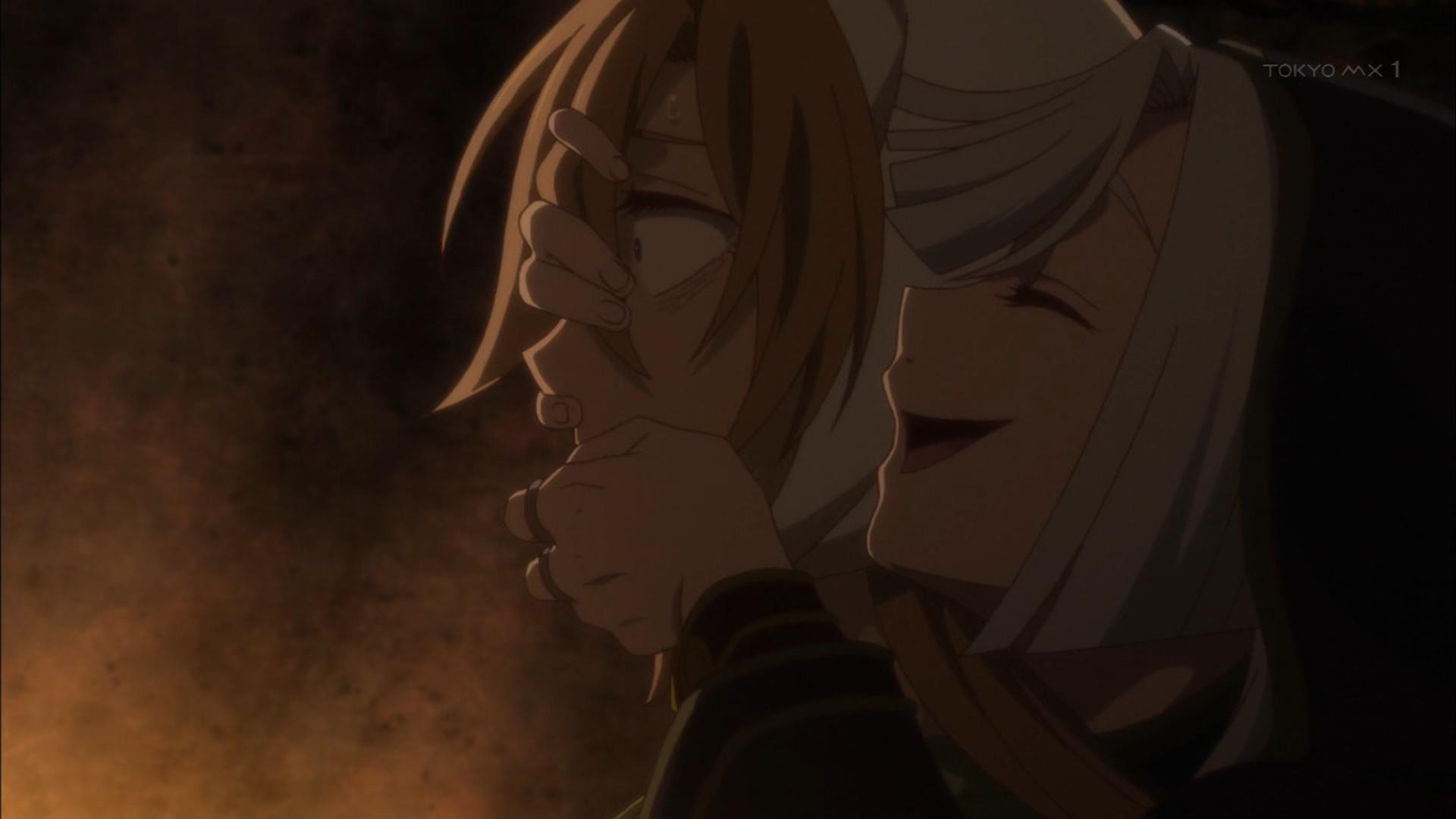 ミナの口をこじ開けるカルタフィルス