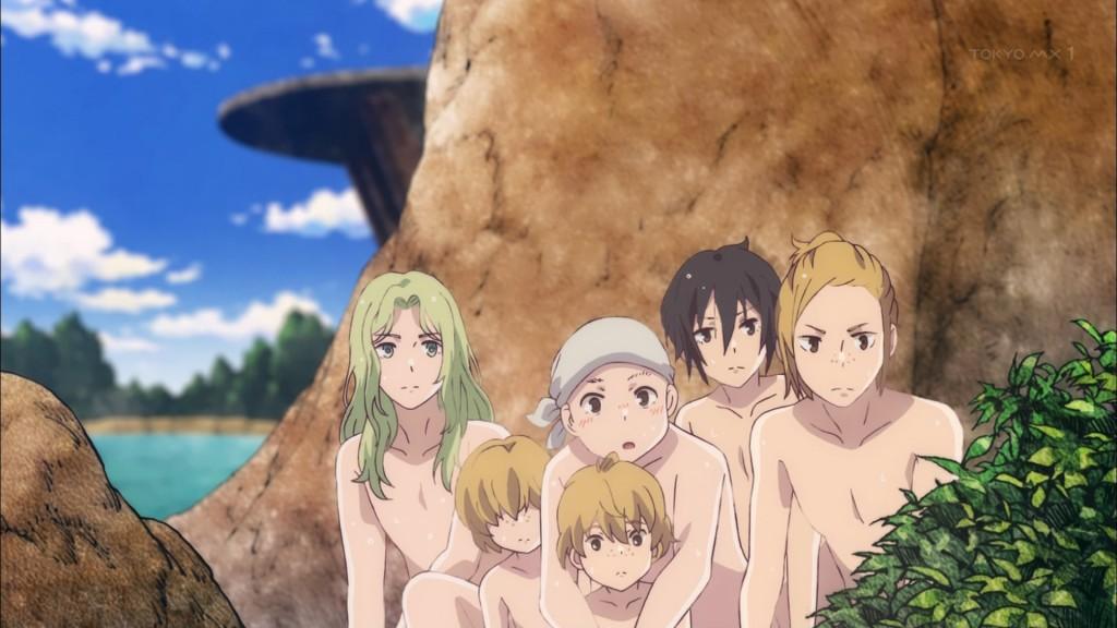 水浴びをしていた男達