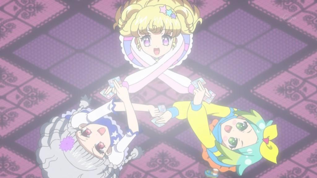夢川ゆいと虹色にのとミーチルのチーム結成の儀式