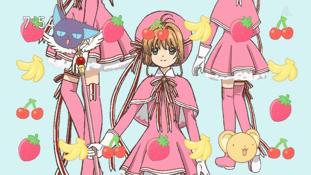 リボンのコスプレを着る木之本桜