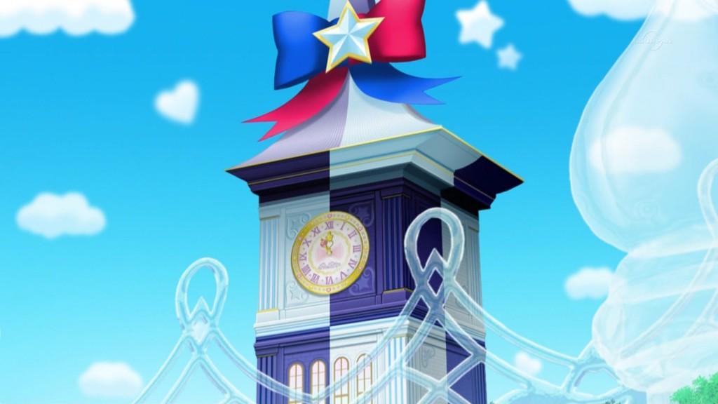合体した時計塔