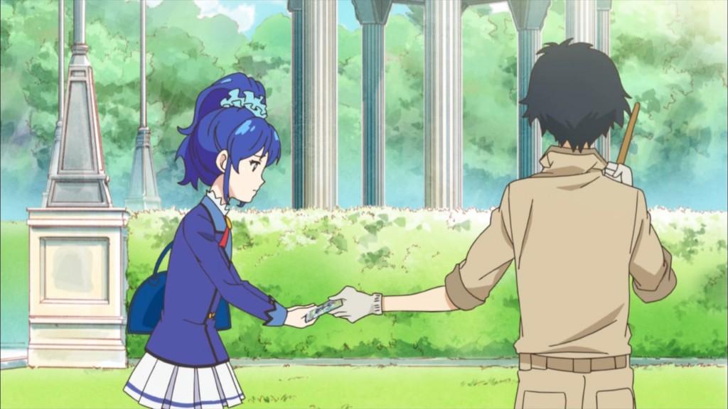 涼川直人からレアカードを貰う霧矢あおい