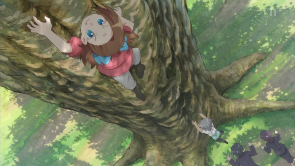 カタリナとアランの木登り勝負